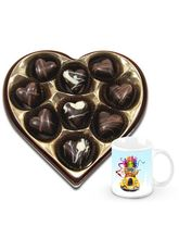 Chocholik Sparkling Touch To Your Loved With Christmas Mug - Belgium Chocolates