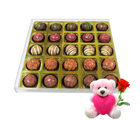 Chocholik Chocolate Combo Gift Box With Teddy and Rose - Belgium Chocolates