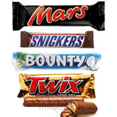 Mars Snickers Bounty Twix Chocolates (250 gm)