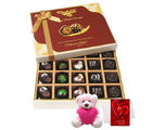 Chocholik Lovely Surprise Of Dark And Milk Chocolate Box With Teddy And Love Card - Belgium Chocolates