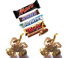 Mars Snickers Bounty Twix Chocolates With Hanging Bell