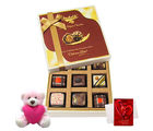 Chocholik True And Rich Combination Of Chocolates With Teddy And Love Card - Luxury Chocolates