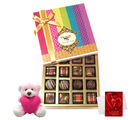 Chocholik Best Seasonal Gift Box Collection With Teddy And Love Card - Belgium Chocolates