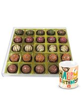 Chocholik Best Signature Truffle Gift Box With Birthday Mug - Belgium Chocolates
