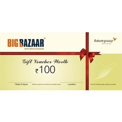 Big Bazaar Gift Voucher, 100