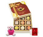 Chocholik Perfect Collection Of White Chocolates With Teddy And Love Card - Luxury Chocolates