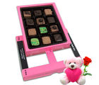 Chocholik Beautiful Design Chocolates Box For Love With Teddy and Rose - Belgium Chocolates