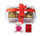 Chocholik Great Collection Of Wrapped Truffles With Teddy And Love Card - Luxury Chocolates