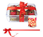 Chocholik Delicious Choco Treat For Your Loved With Love Mug - Luxury Chocolates