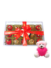 Chocholik Marvelous Collection Of Wrapped Chocolates With Teddy - Luxury Chocolates