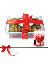 Chocholik Savory Treasure Of Wrapped Truffles With Love Mug - Luxury Chocolates