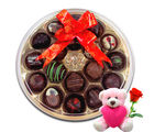 Chocholik Delicious Chocolates Gift Box With Teddy and Rose - Belgium Chocolates