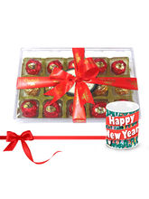 Chocholik Hamper Gift Box With New Year Mug - Luxury Chocolates