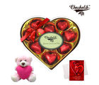 Chocholik Delightful Chocolates Wrapped Chocolates With Teddy And Love Card - Luxury Chocolates