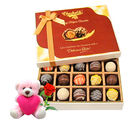 Chocholik Send Delicious Chocolates Hamper With Teddy and Rose - Belgium Chocolates