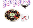 Chocholik 18 pc Impressive Collection of Heart Shape Belgium Chocolate with Mug