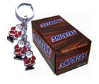 Snickers Box of 24 pcs With Santaclause Keychain