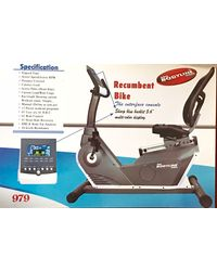 "Pro Bodyline Semi Commercial Heavy Duty Club Class Recumbent Bike With 5.6"" Multi-Color Display - R979, multicolor"