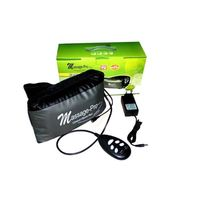 Massage Pro Vibration+ Sauna Heat Belt, black