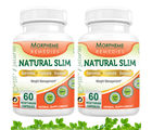 Morpheme Natural Slim - Garcinia Cambogia, Triphala, Guggul (HCA> 60% ) For Weight Management - 500mg Extract - 60 Veg Capsules - 2 Combo Pack