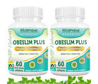 Morpheme Obeslim Plus for Weight Management - 500mg Extract - 60 Veg Capsules - 2 Combo Pack