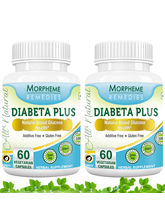 Morpheme Diabeta Plus Natural Blood Glucose Health - 500mg Extract - 60 Veg Capsules - 2 Combo Pack