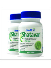 HealthVit Shatavari Powder 250 mg 60 Capsules (Pack Of 2)