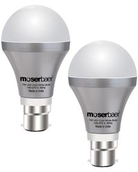 Moserbaer LED Bulb Pack Of 2, multicolor