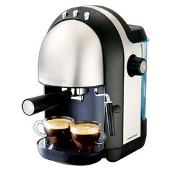 Morphy Richards Meno Espresso Brushed Coffee Maker, multicolor