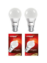 EVEREADY 9 WATT COOL day Light 6500K LED Bulb-Pack of 2, cool day light
