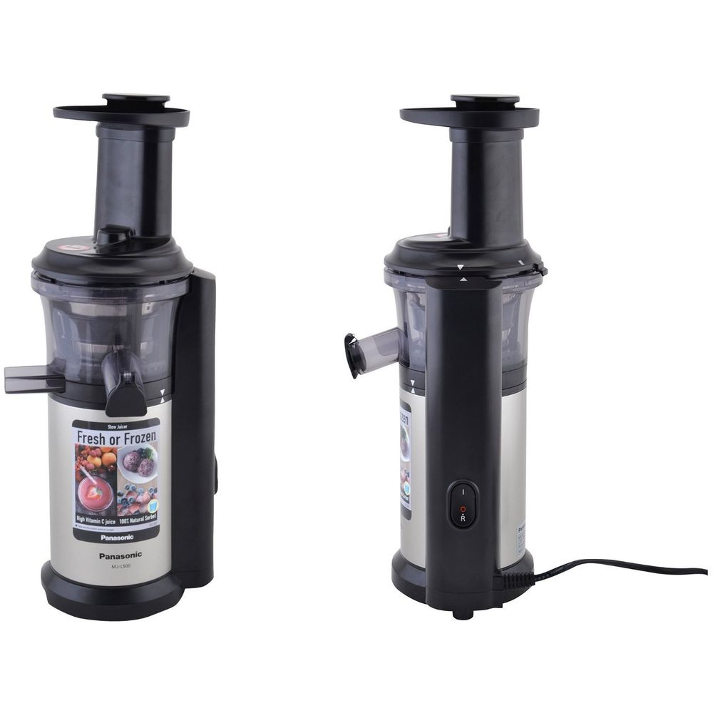 Slow Juicer 150 Watt : Panasonic MJ-L500 150-Watt Stainless Steel Slow Juicer Price: Buy Panasonic MJ-L500 150-Watt ...