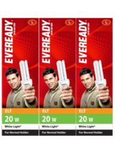 Eveready ELT 20W CFL (Pack of 3) White