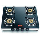Prestige 4 Burner Marvel Glass Top Gas Tables GTM 04 SS