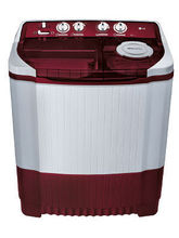 LG Semi Automatic Washing Machine P7853R3SA 6.8KG, burgundy