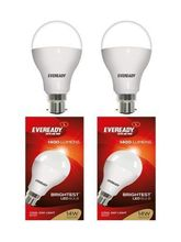 Eveready 14W-6500K Cool Day Light LED Bulb 2 Pc Pack, cool day light