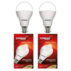 Eveready 14W-6500K Cool Day Light LED Bulb 2 Pc Pack, cool-day-light