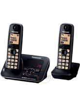 Panasonic KX-TG3722 Cordless Landline Phone (Black)