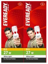 Eveready ELS 27W CFL (Pack of 2) White