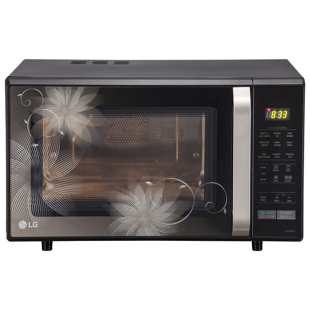 LG MC2846BCT 28 L Convection Microwave Oven, black Image