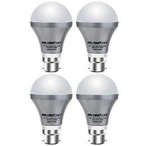 Moserbaer LED Bulb Pack Of 4, multicolor