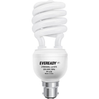 Eveready-27W-B22D-CFL-Bulb-(White)