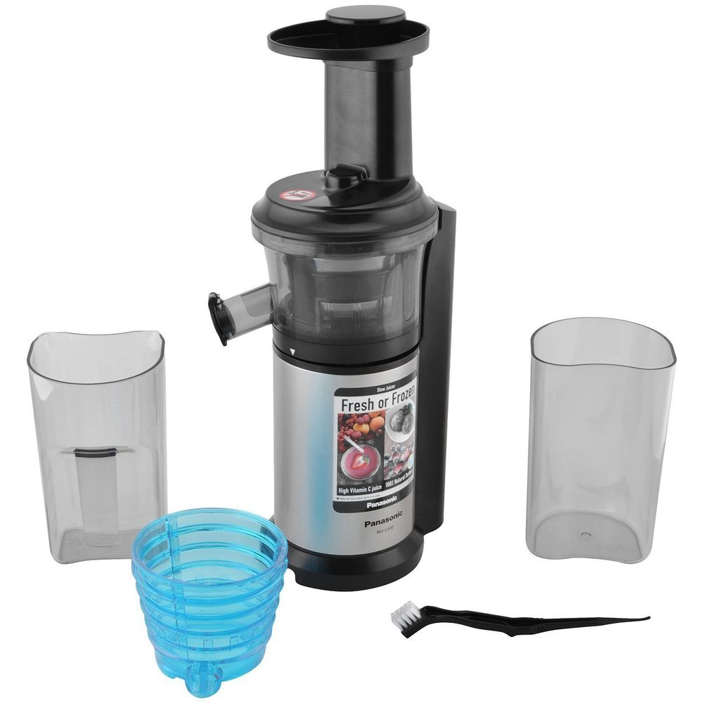 Panasonic MJ-L500 150-Watt Stainless Steel Slow Juicer Price: Buy Panasonic MJ-L500 150-Watt ...