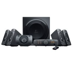 Logitech Z906 1000W Surround Sound 5.1 Speaker System, black