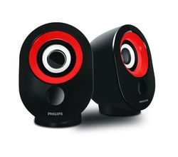 Philips SPA-50 2.0 speaker with USB Plug, red