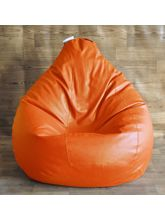 Fancy Style Homez Classic Bean Bag Cover, orange, xxl