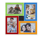 Multicolor Dashing 4 Pictures Collage Photo Frame, multicolor