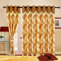 Cortina Fancy Candy 5Ft Curtain,  coffee