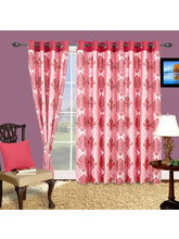 Cortina Royal 7Ft Curtain, pink
