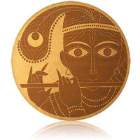 Engrave Krishna -The Cowherd Prince Plaque, multicolor