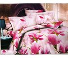 Welhouse India Floral Print Double Bed Sheet With 2 Pillow Cover, pink